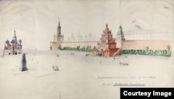 Один из проектов Мавзолея Ленина на Красной площади