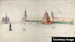 Один из проектов ленинского Мавзолея. 1920-е годы