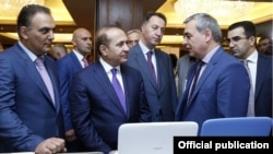 Armenia - Prime Minister Hovik Abrahamian at DigiTech business forum in Yerevan,20Jun,2014