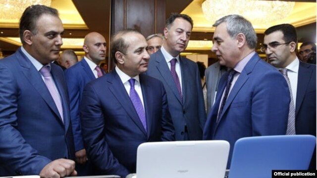 Armenia - Prime Minister Hovik Abrahamian at DigiTech business forum in Yerevan,20Jun,2014