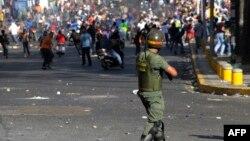 Վենեսուելա - Ցուցարարների և ոստիկանների միջև բախումները Կարակասում, 12-ը փետրվարի, 2014թ․