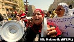 احدى المظاهرات في ميدان التحرير(من الارشيف)