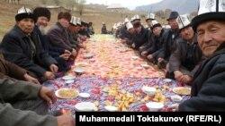 Торжества в кыргызском селе. Иллюстративное фото.