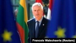 Negociatorul șef al UE, Michel Barnier, la summitul de la Bruxelles în iunie 2018