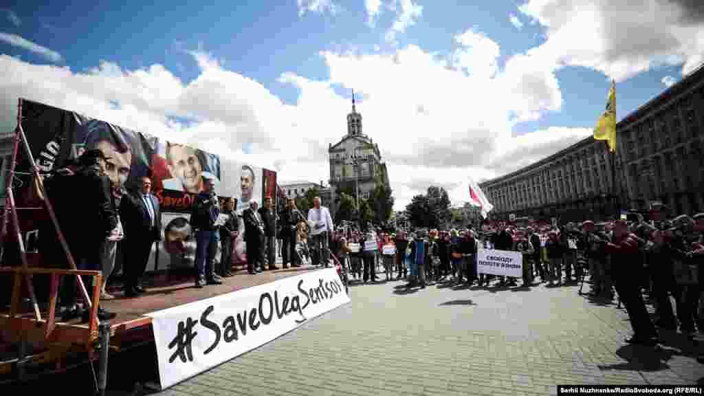 Під час акції на Майдані відбувся також імпровізований мітинг лідерів Меджлісу кримськотатарського народу