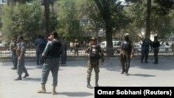 Сили безпеки Афганістану на місці нападу, 29 серпня 2017 року