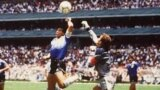 "Maradona's ""Hand of God"" goal against England at the 1986 World Cup in Mexico is one of the most famous goals in soccer history."