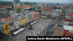 Zagreb, pogled na Trg bana Jelačića