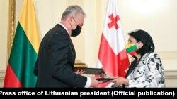 Гитанас Науседа и Саломе Зурабишвили