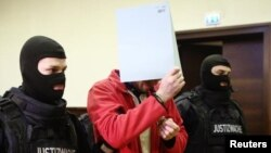 """Magomed Z.,"" a Chechen refugee, in court in Krems, Austria, on January 23"