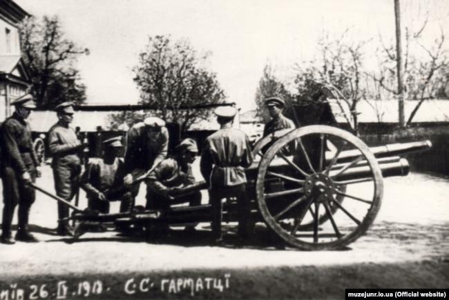 Сечавыя стральцы ў Кіеве, 1918