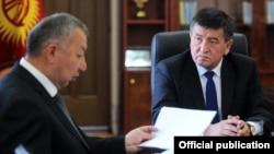 Сооронбай Жээнбеков и Кубатбек Боронов.