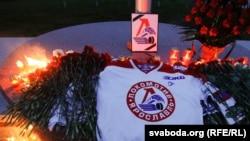 Одна из акций памяти погибших хоккеистов ярославской команды
