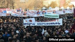 Armenia - President Serzh Sarkisian holds an election campaign rally in Ararat, 4Feb2013.