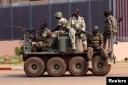 Боевики одной из вооруженных группировок, действующих в ЦАР
