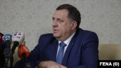 Milorad Dodik, reprezentatul sârbilor în președinția multietnică a Bosniei-Hețegovina, Sarajevo, 13 februarie 2020.