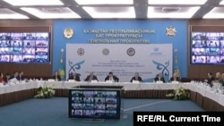 На расширенном заседании национальной комиссии по делам женщин и семейно-демографической политике. Астана, 14 апреля 2017 года.