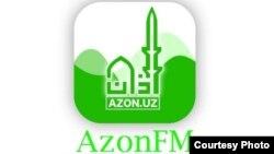 Логотип первого в Узбекистане исламского онлайн-радио AzonFM.