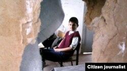 Архивное фото. Школа в поселке Челебихан города Шеки.