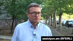 Armenia -- Vitaly Shishkin, a Russian activist granted asylum in Armenia, speaks to RFE/RL, Yerevan, September 3, 2019.
