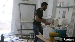 Госпиталь в Алеппо, подвергшийся бомбардировкам в апреле 2016 года.
