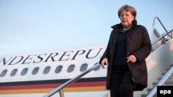 Angela Merkel astăzi la sosirea la Washington