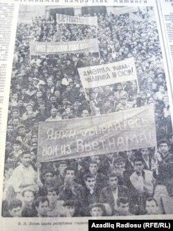 V. İ. Lenin adına respublika stadionunda Bakı zəhmətkeşlərinin izdihamlı mitinqi