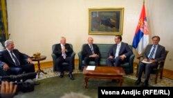 Sastanak Aleksandra Vučića sa predstavnicima srpskih i crnogorskih policijskih i civilnih bezbednosnih službi u Beogradu, 2. sepmtebar 2013.