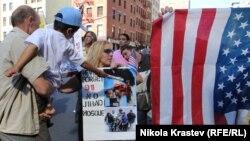 Протести против изградба на исламски центар и џамија во близина на местото каде што беа кулите Близначки во Њујорк во 2010 година.