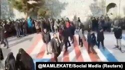 Учак кырсыгына байланыштуу нааразылык акциясы. Тегеран. Иран. Январь, 2020-жыл.