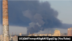 Наслідки потужного вибуху в окупованому Донецьку
