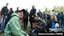 Участники протеста против строительства церкви в Екатеринбурге