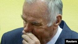 Ратко Младич, бывший сербский генерал, на судебном процессе в Гааге, 16 мая 2012 года.