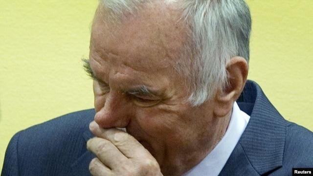Ratko Mladić u sudnici Haškog tribunala