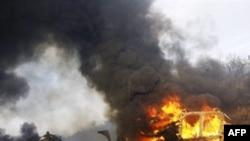 Під російським обстрілом – передмістя грузинського міста Ґорі. 11 серпня 2008р.