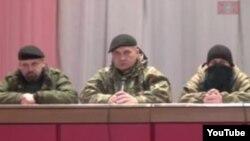 Скриншот размещенного в Интернете видео «народного суда» сепаратистов.