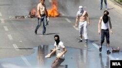 Nga protestat në Shkup...