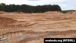 Будоўля ўжо займае 2,5 гектара былога лесу і паляны каля Цнянкі