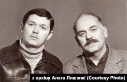Алег і Сяргей Ляшэнкі ў Самаркандзе, пачатак 1983 году