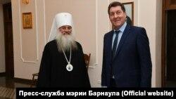 Митрополит Барнаульский и Алтайский Сергий и мэр Сергей Дугин