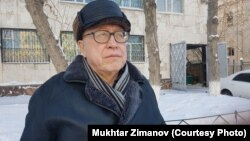 Түрмеден мерзімінен бұрын босатылған Мұхтар Зиманов. Астана, 25 қаңтар 2018 жыл.