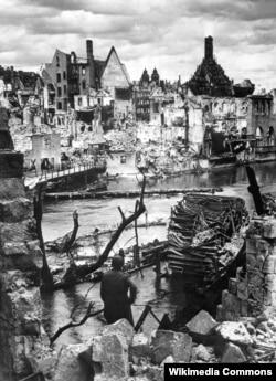 Зруйнований Нюрнберг, 1945 рік