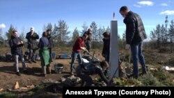 Памятник Якову Степанову, Карелия, Каменный бор