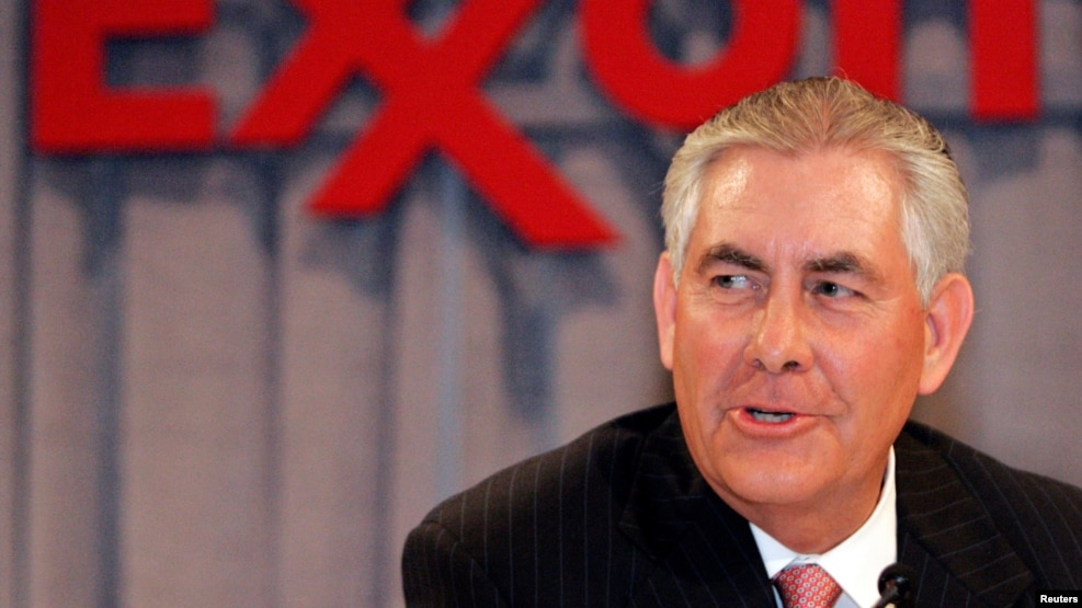 ExxonMobil chief Rex Tillerson is likely to face questions over his ties to Russia.