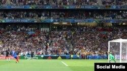 Франция уенчысы Гризманнның алманнар капкасына беренче гол кертү мизгеле
