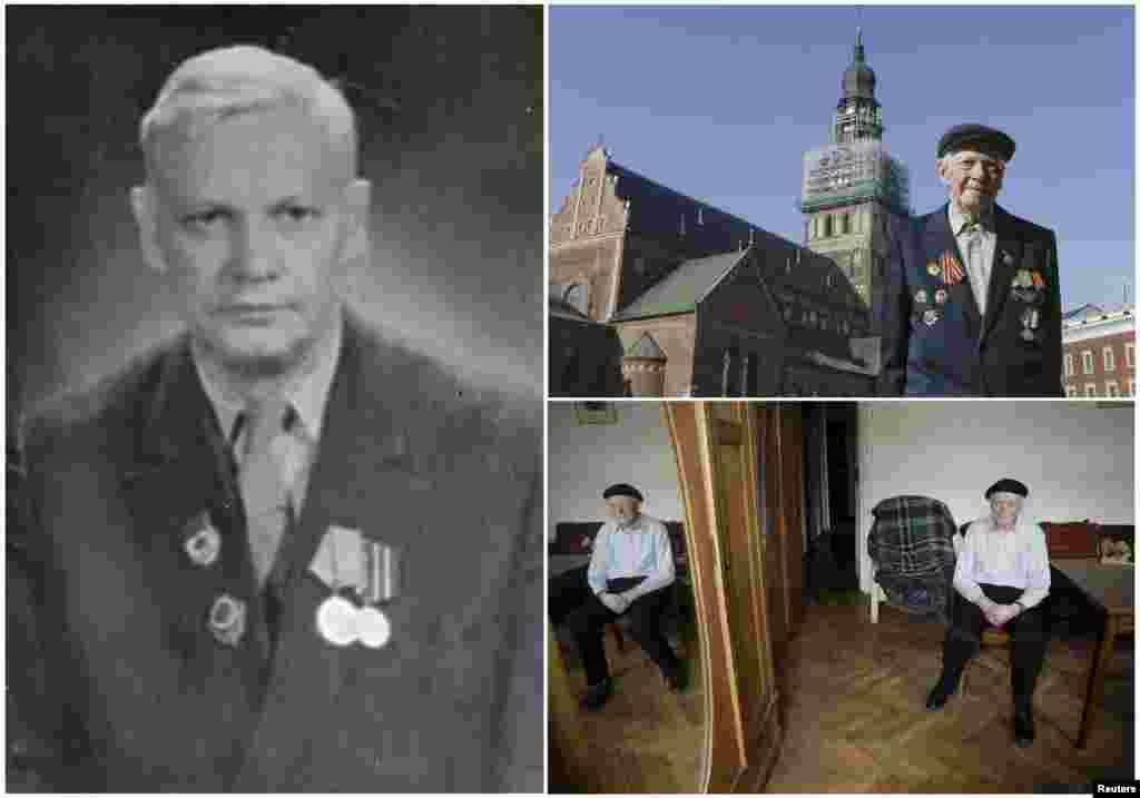Фрицис Цеплис, 98. Латвийский офицер пехотного отряда Красной армии с марта 1942 по май 1945 года, служил на территории своей страны.