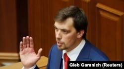 Премьер-министр Украины Алексей Гончарук на трибуне Верховной рады