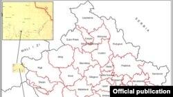 Mapa Kosova