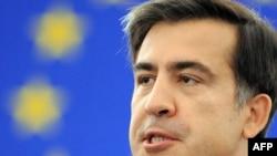 Михаил Саакашвили обращается к депутатам Европарламента в Страсбурге