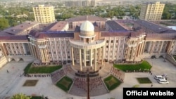 A large complex with a white dome and tall pillars has already been constructed in Danghara to house a new university. (file photo)